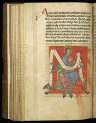 Half-Page Miniature Of St. Mark, In 'The Sherborne Cartulary'